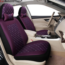 цена на Car Believe car leather seat cover For peugeot 206 407 508 308sw 301 3008 2017 205 307 207 406 car accessories seat covers