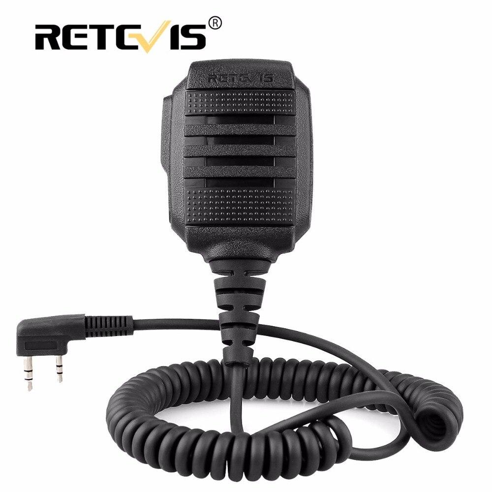 RETEVIS RS-114 IP54 Wasserdichte Lautsprecher Mikrofon Für Kenwood Retevis H777 RT5R RT22 RT81 BAOFENG UV-5R UV-82 888 S Walkie Talkie