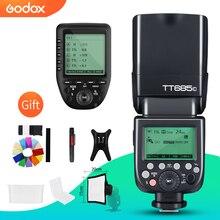 Godox TT685C TTL kamera flaşı 2.4 GHz Yüksek Hızlı 1/8000 s GN60 + Xpro C TTL Kablosuz Verici canon DSLR kamera için