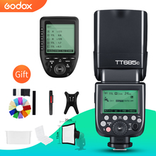 Godox tt685c ttl 카메라 플래시 캐논 dslr 카메라 용 2.4 ghz 고속 1/8000 s gn60 + xpro c ttl 무선 송신기