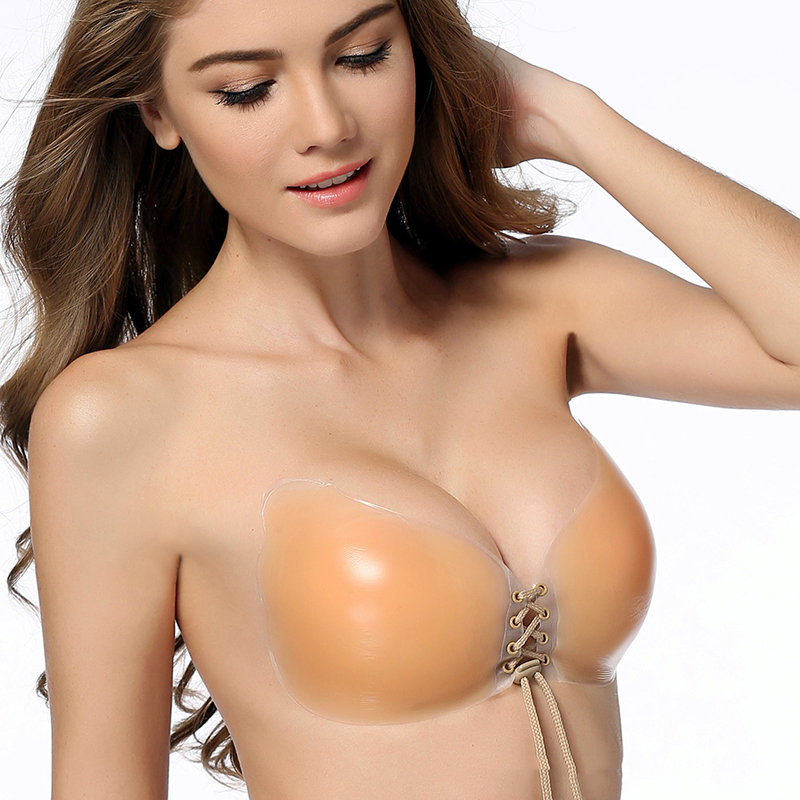 9b674df7ebdd2 Sexy Wing Pure Silicone Push Up Bra without straps self Adhesive Backless  Pad Strapless Bra Sticky Cleavage Invisible
