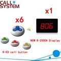 Беспроводная ресторанная настольная кнопка вызова система для обслуживания гостей беспроводной столик официанта звонок и дисплей (1 диспл...