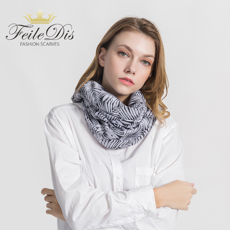 [FEILEDIS]2019 Fashion Cotton scarf Women Wrap Designer Scarves Autumn And Winter Women scarf luxury brand shawl MA1735