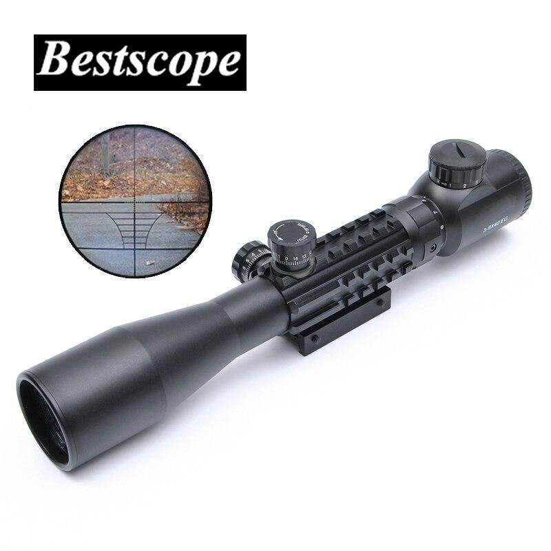 BU 3-9X40 EG lunette de visée tactique lunette de visée portée de fusil Sniper pistolet chasse portées fusil à air comprimé extérieur réticule portée de visée
