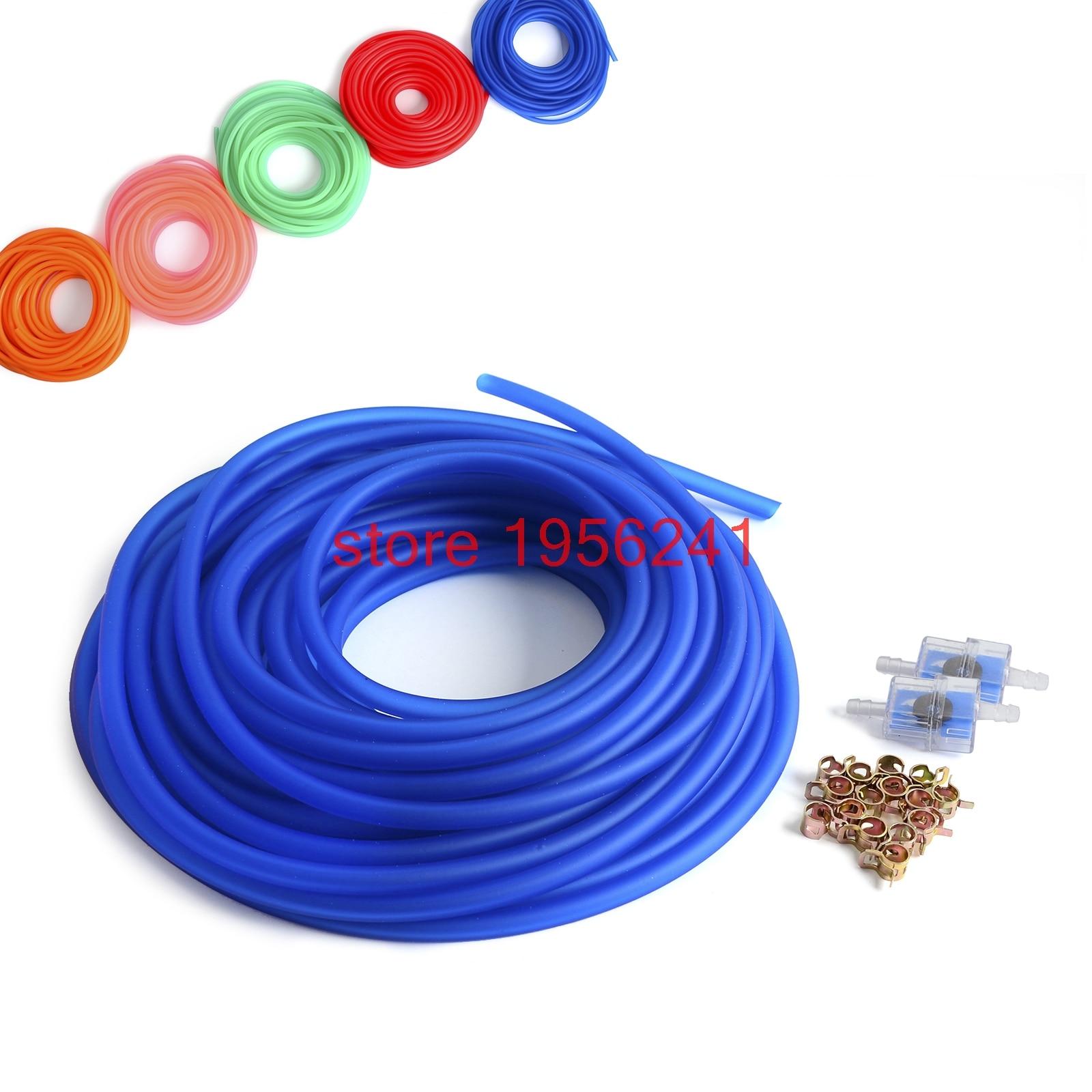 5 футов в пластике топливопровод труба с хомутами фильтр 3/32 дизельный топливный газ линия Труба масла НКТ Триммер для craftsman Weedeater