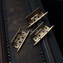 купить 2PCS European American antique hinge furniture hardware crown head hinge cabinet doors hitch hinge KF1013 по цене 2945.88 рублей