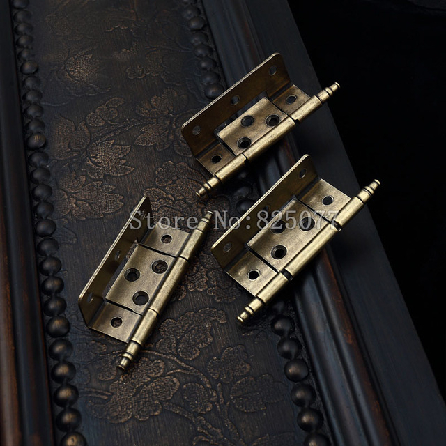 2PCS European American antique hinge furniture hardware crown head hinge  cabinet doors hitch hinge KF1013 - 2PCS European American Antique Hinge Furniture Hardware Crown Head