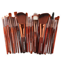 Makeup Brush New 22pcs Cosmetic Makeup Brush Blusher Eye Shadow Brushes Set Kit Fashion Handy Drop