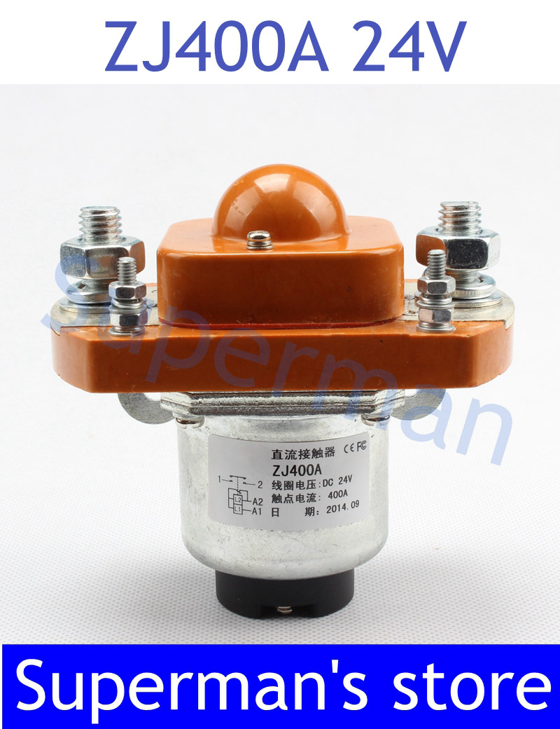 цена на ZJ400A NO (normally open) style Coil Voltage 24V 400A DC Contactor for motor forklift electromobile grab wehicle car winch