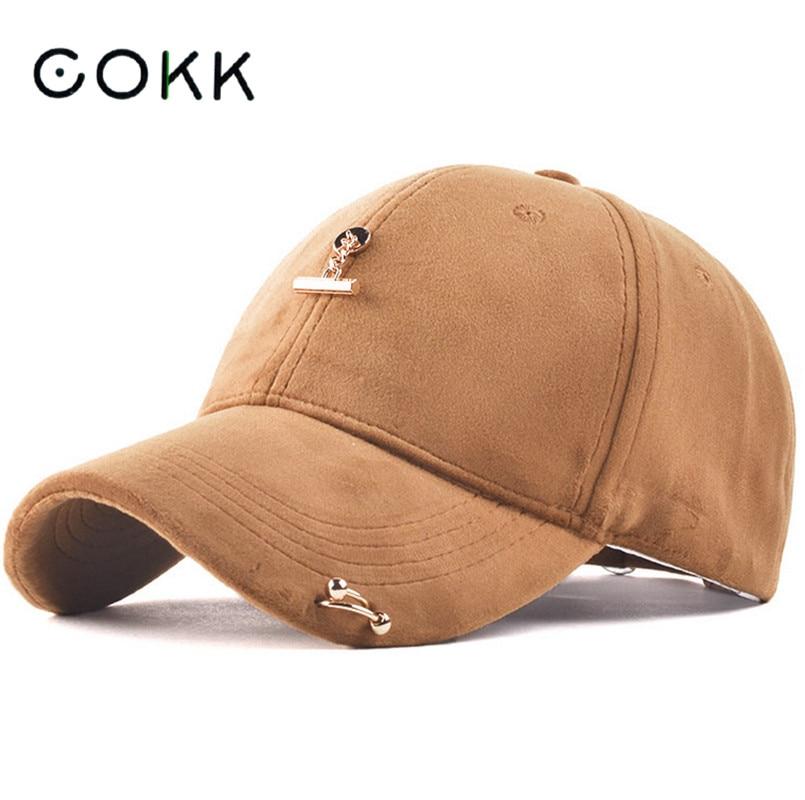 COKK Men Women Suede Snapback Caps Sprins