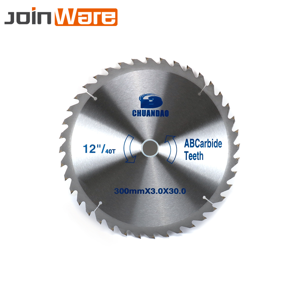 12Inch 300MM Teeth 40T/60T Carbide Circular Saw Blade Woodworking Tool Cutting Disc For Wood Aluminum 300X3X30MM Free Shipping 12 72 teeth 305mm carbide saw blade with silencer holes for cutting melamine faced chipboard free shipping left right teeth