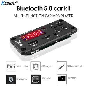 Image 2 - Kebidu couleur écran 12V MP3 WMA sans fil Bluetooth 5.0 décodeur carte Audio Module USB FM TF Radio AUX entrée sans amplificateur pour voiture