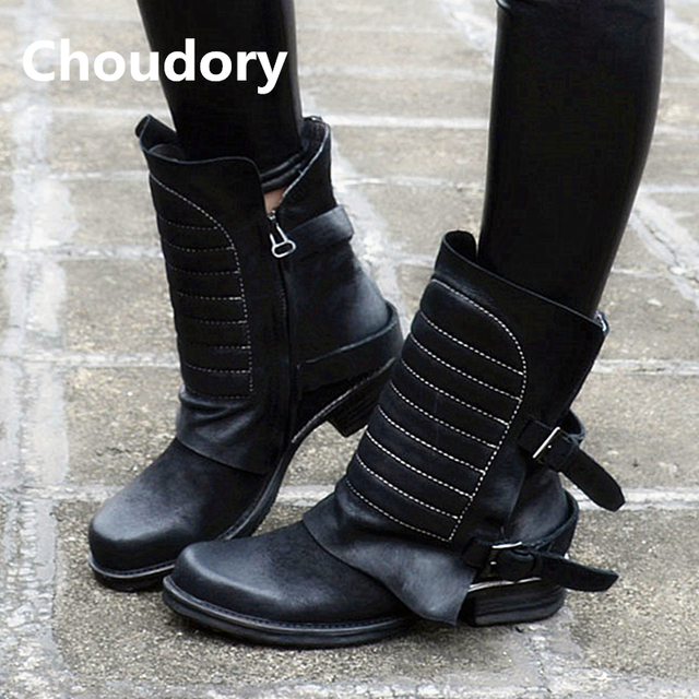 c4bcec3ddee699 Choudory-Genuine-Leather-Women-Short-Motorcycle-Boots-Fashion-Flats-Dress -Shoes-Woman-Big-Size-Embroidery-Rain.jpg 640x640.jpg