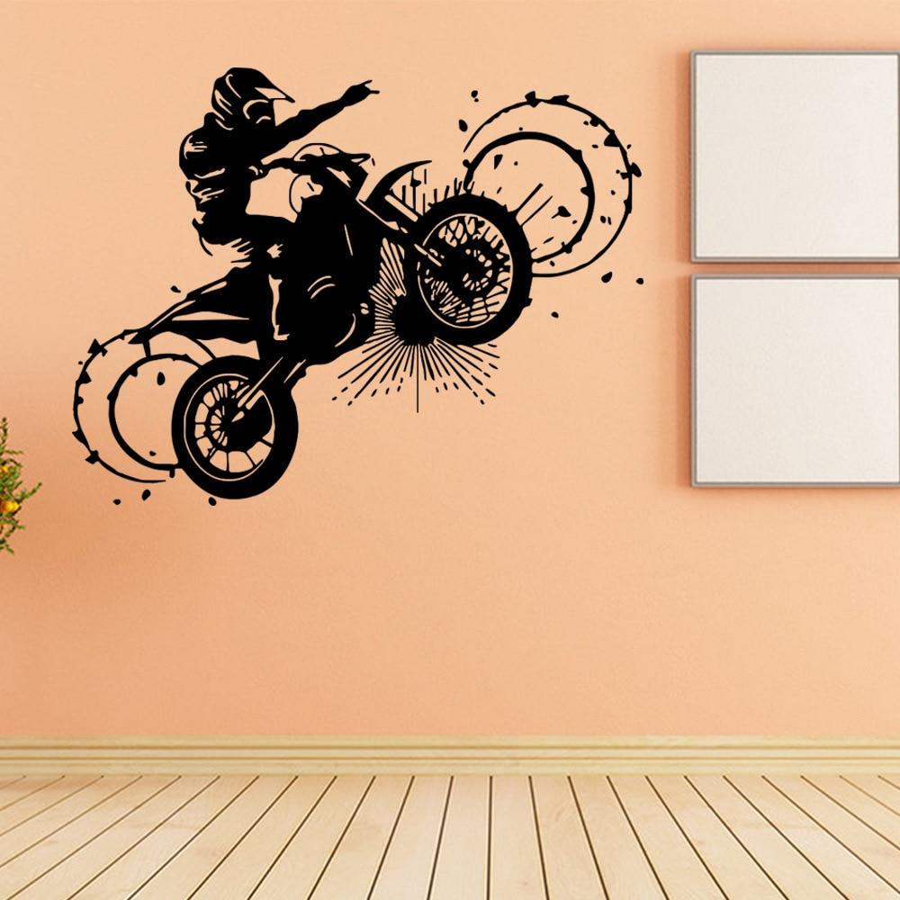 Crazy Motorcycle Sport Fashion Wall Sticker Bar Art Home Decor ...