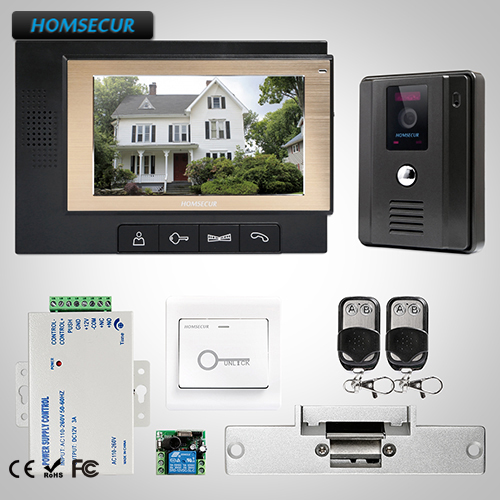 HOMSECUR 7 Wired Video Door Entry Security Intercom Electric Lock Supported  TC011-B + TM702-B HOMSECUR 7 Wired Video Door Entry Security Intercom Electric Lock Supported  TC011-B + TM702-B