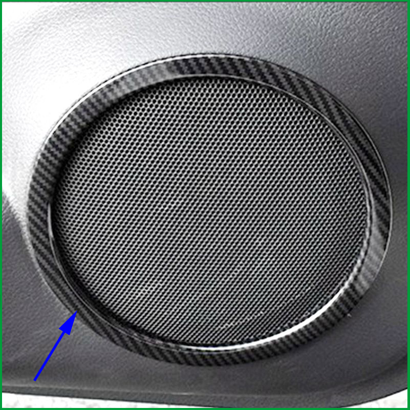 For Nissan X-trail X trail Rogue T32 2014 2015 2016 2017 door speaker cover decoration trims stickers car accessories