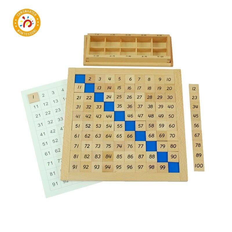 Montessori jouets mathématiques en bois pour bébé jeux de Puzzle et jouets mathématiques bois éducatif Montessori enfants jouets mathématiques apprentissage MA018