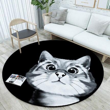 Bande dessinée créative tapis rond mignon chambre maison Table basse chevet suspendu panier ordinateur chaise tapis