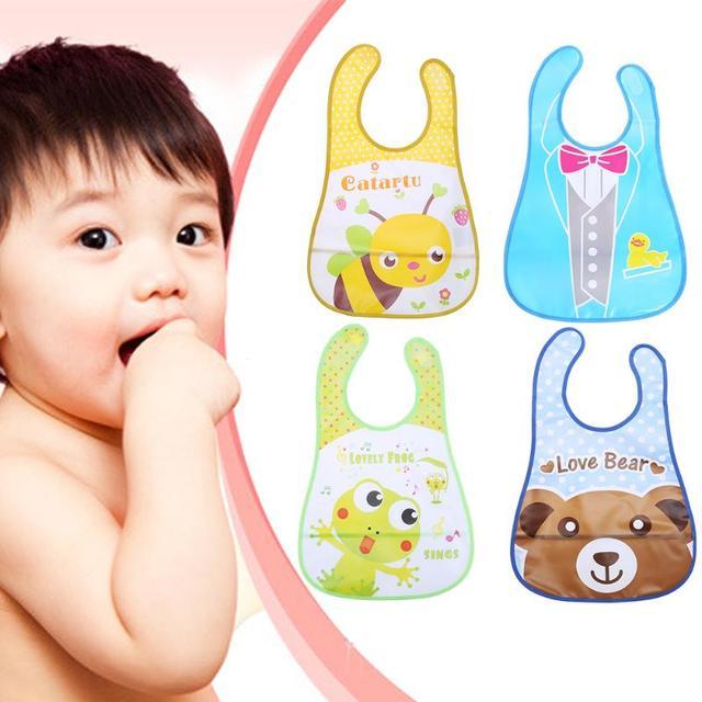 Baby Boy Girl Kids Bibs Waterproof Saliva Towel Cartoon Bib Feeding Bandana Apron Newborn Burp Children Bids