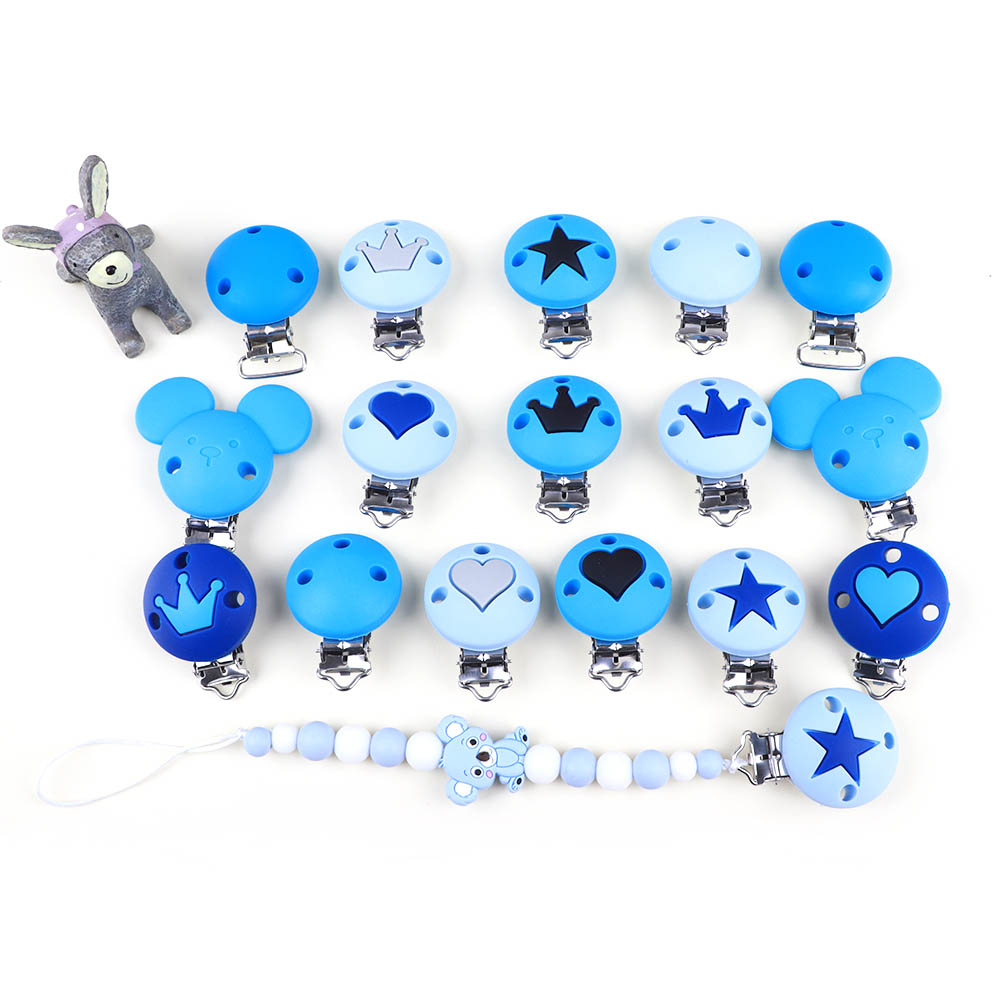 TYRY.HU 1pc Silicone Baby Pacifier Clip Silicone Bead Pacifier Chain For Baby Teething Accessories Soother Chew Toy