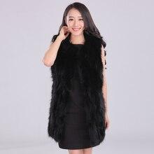 2016 vogue winter fur vest girls lengthy pure raccoon canine fur vests waistcoats feminine O neck sleeveless actual fur outerwear