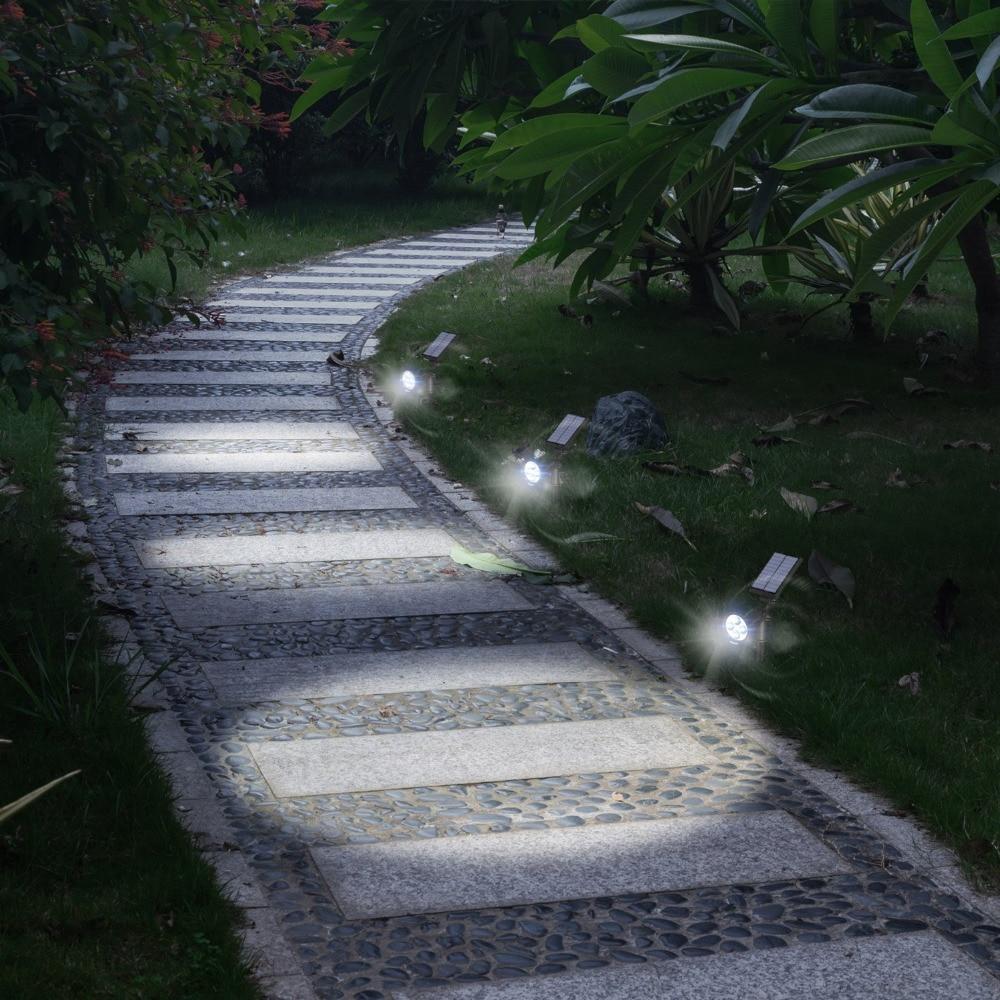 10pcs Lot 4 Led Solar Powered Lamp Outdoor Spotlight
