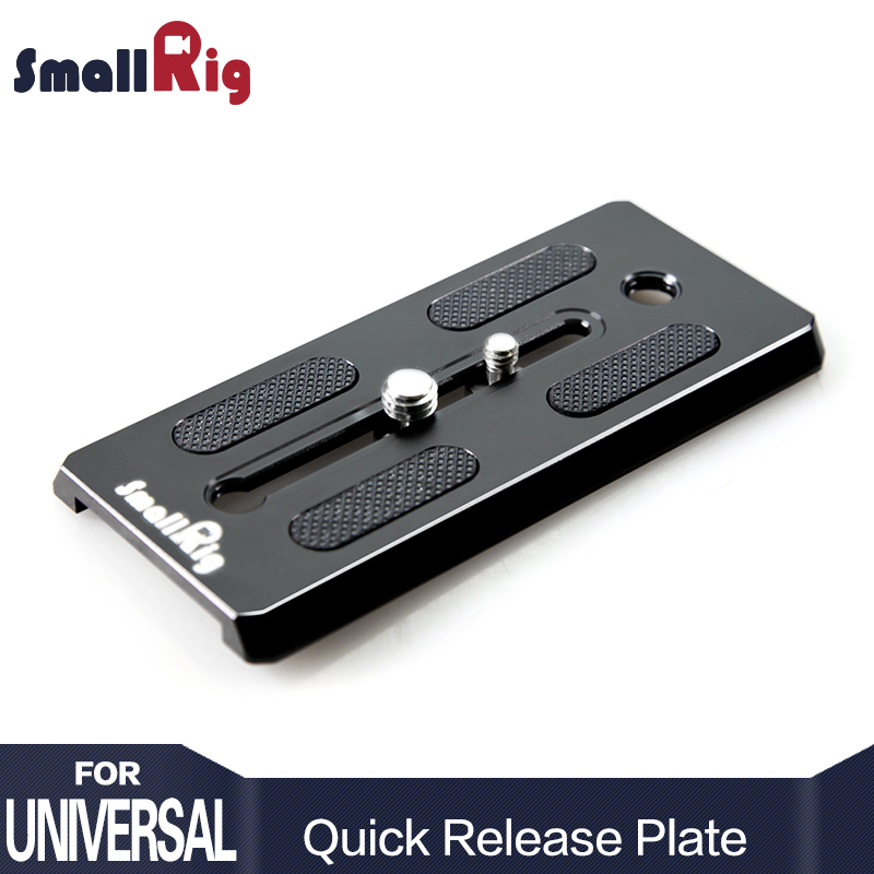SmallRig Standard Vinten Camera Quick Release Plate with 1/4 and 3/8 inches Screws - 1700
