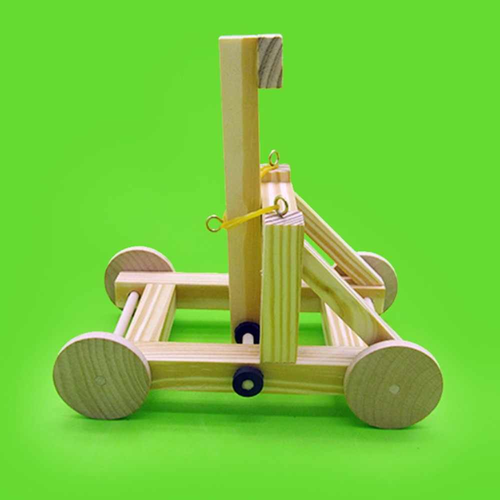DIY Sling Material Set Wood War Wagon Model Assembly Toy Educational Funny Kids Children Craft Toy Christmas Gift
