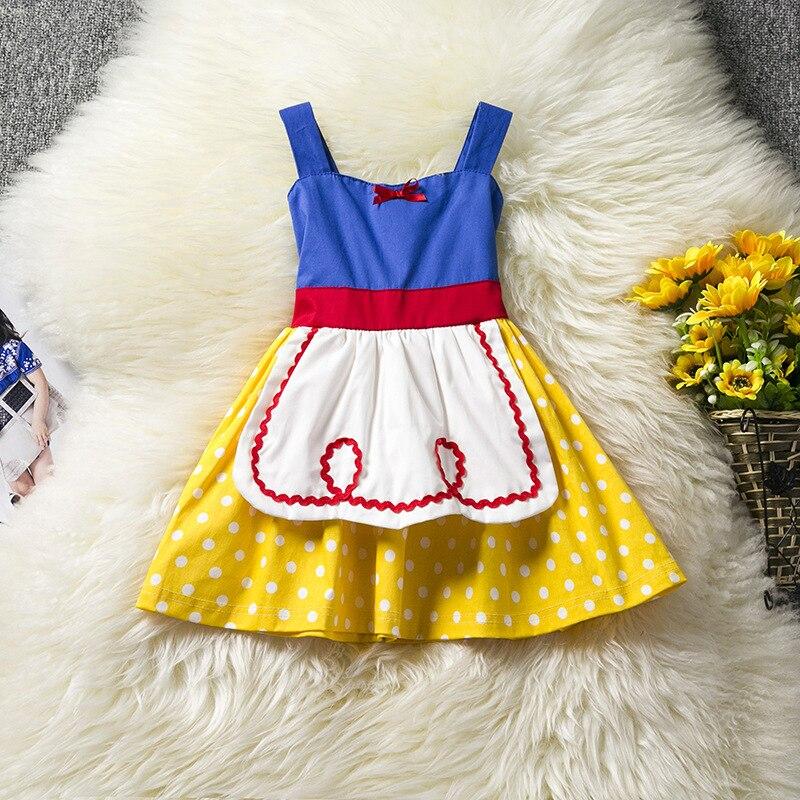 Christmas Princess Girl Dress Little Baby Halloween Costume Toddler Girls Clothes Dots Summer Dress Girls Baby Apron L193