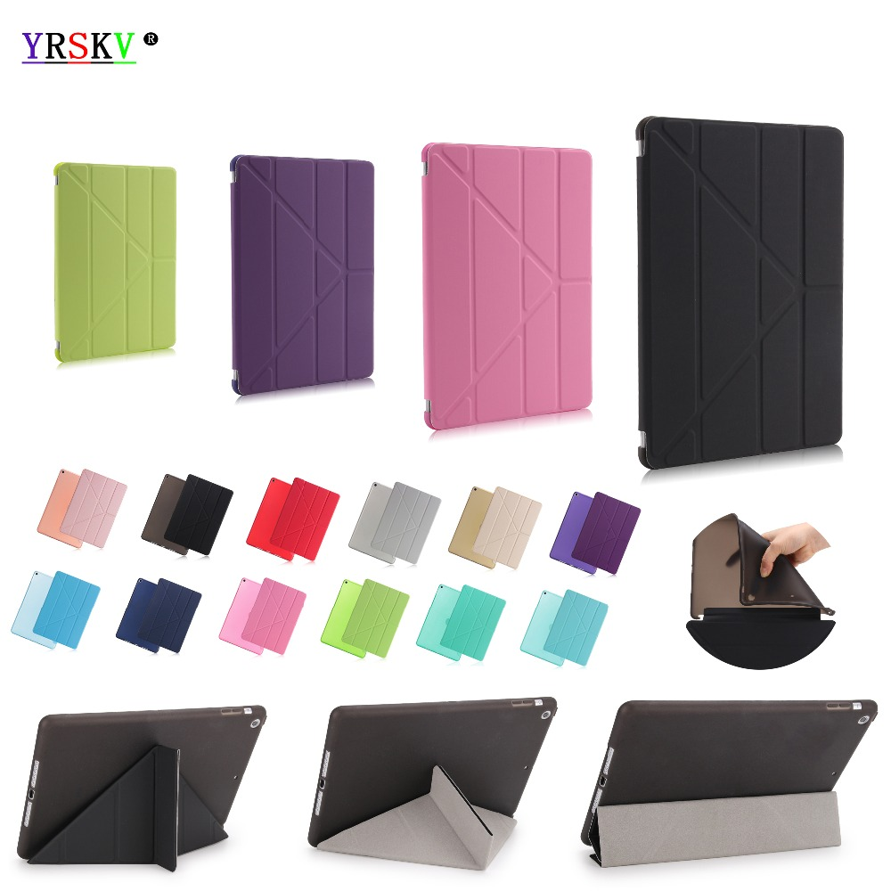 Funda para apple ipad 9,7 pulgadas 2018/2017 release 6th YRSKV Smart Sleep Wake Up Advanced Shell PU cuero paño TPU suave cubierta trasera