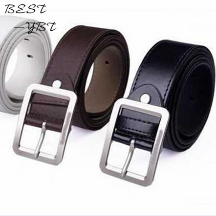 2018 Fashion PU Leather Men Belt Casual Metal Buckle Belt Waistbands Strap Belt For Youth