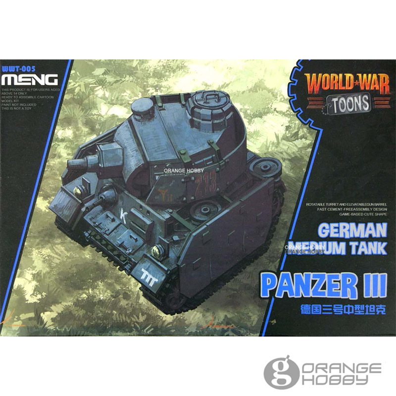 OHS Meng WWT005 Q Versin German Medium <font><b>Tank</b></font> Panzer III WWT006 Soviet Medium <font><b>Tank</b></font> <font><b>T34</b></font>/76 Assembly <font><b>Model</b></font> Building Kits oh image