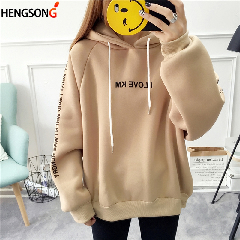 Women's Hoodies Autumn Sweatshirts Harajuku Pullover Plus Size Hoodie Long Sleeve Hoody Female Spring Hooded Sudadera Mujer