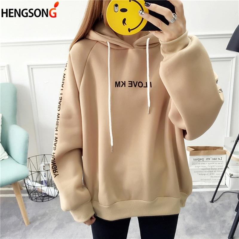 Women's Hoodies Autumn Sweatshirts Harajuku Pullover Plus Size Hoodie Long Sleeve Hoody Female Spring Hooded Sudadera Mujer