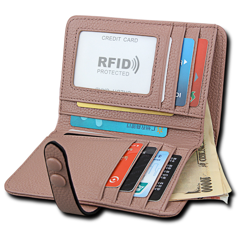Anti RFID Wallet Protection Leather RFID Wallet Female Womens Card Holder Magic Wallet Business Card Holder Card RFID Purse