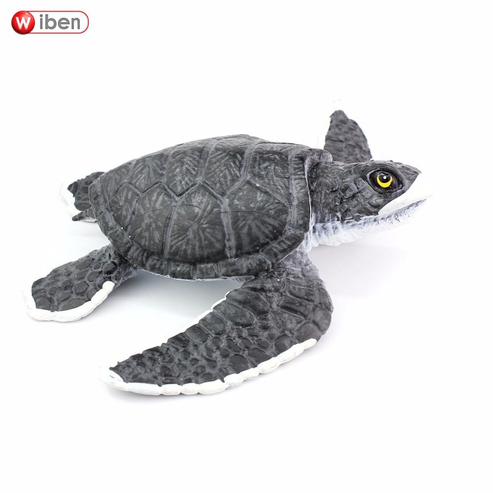 Wiben Sea Life jūras bruņurupuču simulācija Dzīvnieku modelis Rīcības un rotaļu figūras Mācīšanās un izglītojošas Ziemassvētku dāvanas bērniem