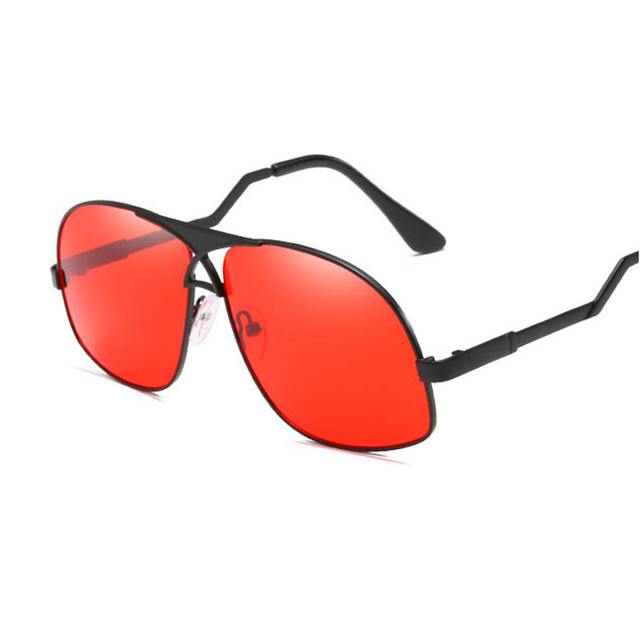 db641d366f9 Mens Sunglasses Metal Frame Sunglass Men Women red lens sunglasses Vintage  Square Sun glasses For Male