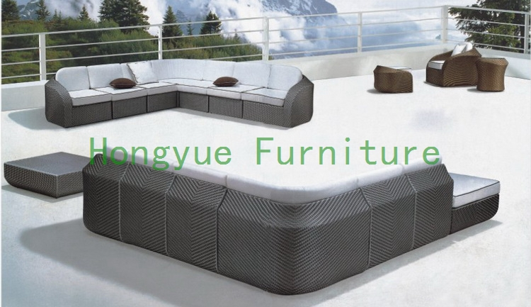 rattan outdoor sectional sofa designs