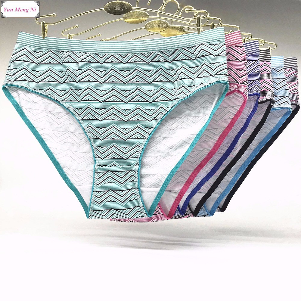 Free Shipping Big yards 2XL/3XL/4XL Fashion Print underwear Women's   panties   Large size Lady Mummy Pants Cotton briefs 89256