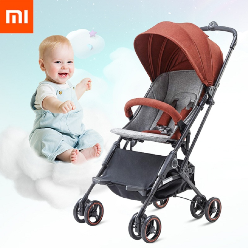 Xiaomi youpin High Landscape Stroller Two-way Can Sit Reclining Ultra-light Portable Folding Shock Four-wheeled Baby Trolley