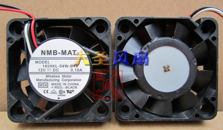 מקורי Nmb 1604kl-04w-b49 4010 12V 0.10 - tachometer אות כפולה הכדור מאוורר קירור