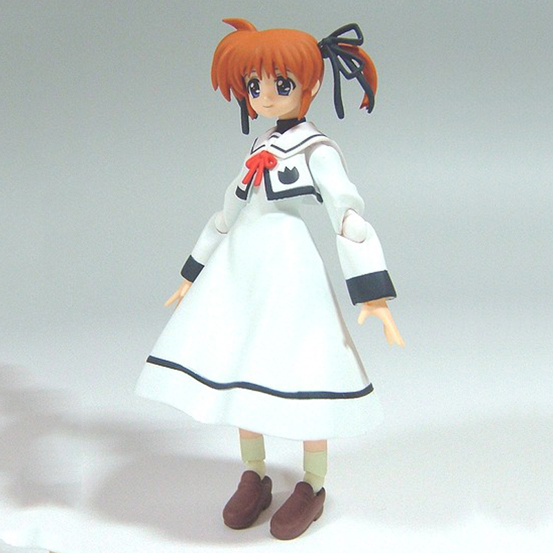 2016 NEW Arrival Figma SP007 Magical Girl Nanoha Takamachi Japan 3D Model uniforms Movable font b