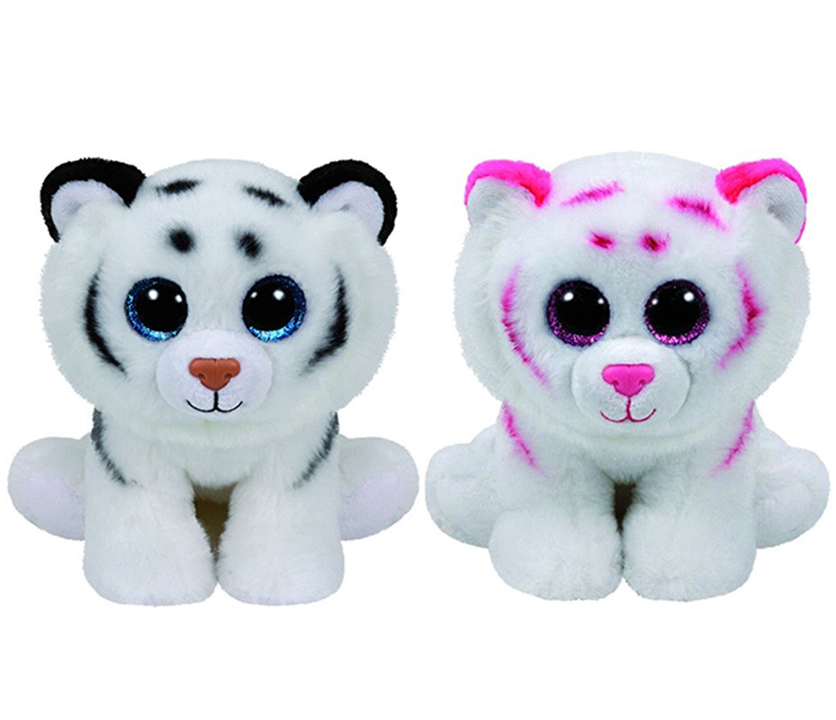 af6839b7fd2 Ty Beanie Boos Tiggs Tabor Tundra White Pink Tiger Cute Plush Stuffed  Animal Big Eyes 6   15cm Baby Kids Toys for Children Gifts-in Stuffed    Plush Animals ...