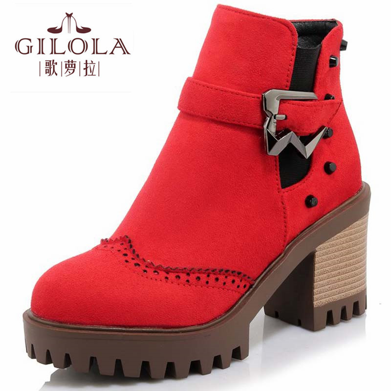 new fashion platform high heels snow women boots autumn motorcycle women's boots autumn winter women shoes woman best #Y1153871F отсутствует литературный микс 1 9 2010