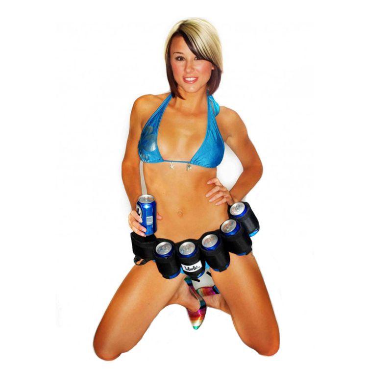 YZ0131 Army Green Black 6 Pack Beer Holder Portable Bottle Soda Belt Bag Handy Wine Bottles Beverage Can Holder Hot