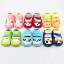 Newborn Toddler Baby Girl Boy Shoes First Walker Baby Cartoon Newborn Baby Girls Boys Anti-Slip Socks Slipper Shoes Boots(China)