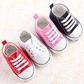 Estrella de la moda de Lona Zapatos de Bebé de $ Number Colores Zapatos de Los Bebés Recién Nacidos para Niños con cordones Casual Calzado Deportivo Para Niños Recién Nacido Sapatos Pre Walker