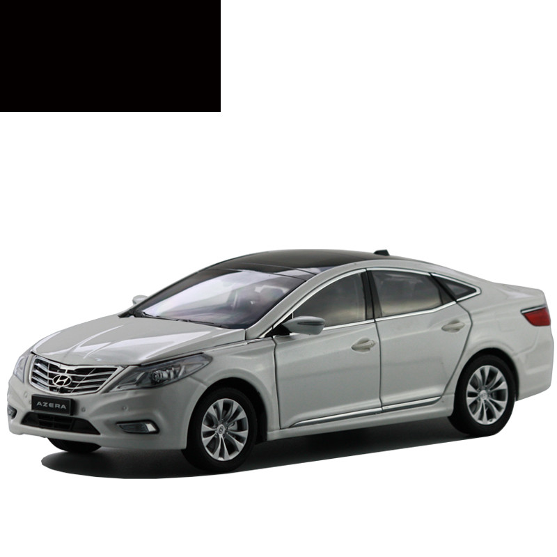 white 2013 1 18 hyundai hyundai azera grandeur diecast model car toys replica miniature cars. Black Bedroom Furniture Sets. Home Design Ideas