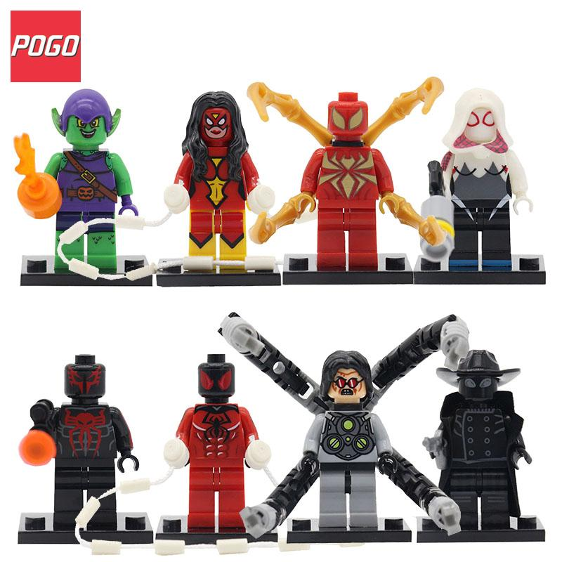 Single Sale Spider-man Action Figure Super Hero Building Blocks Model Sets Spiderman Bricks Educational Toys For Children Gifts single sale star wars classic stormtrooper with blaster gun building blocks action sets model bricks toys for children