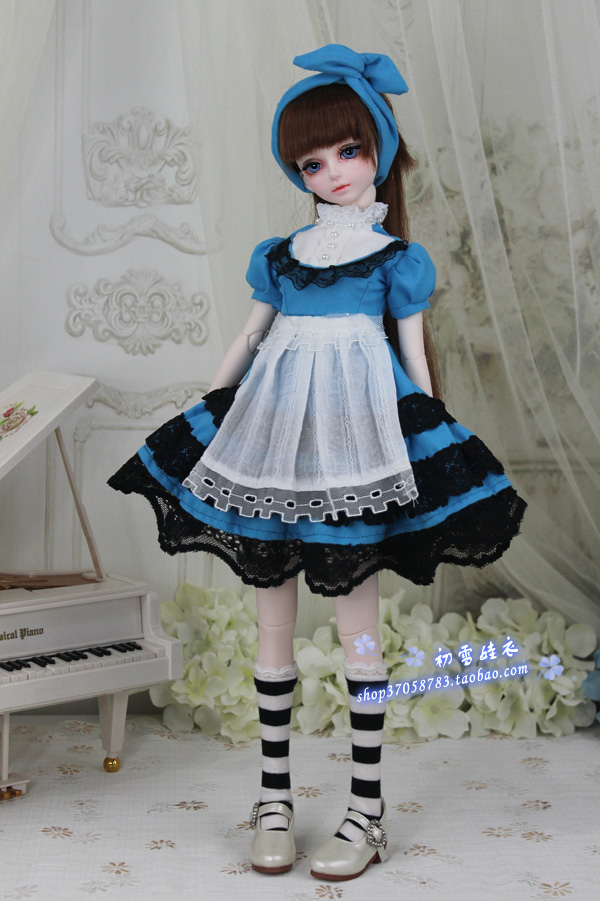 Maid dress for 1 3 1 4 BJD SD doll clothes for girls Doll Accessories Toy